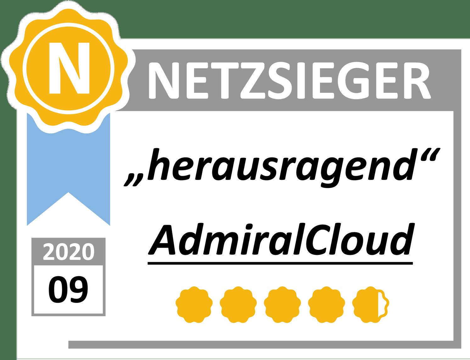 Testsieger Auszeichnung 2020: herausragend